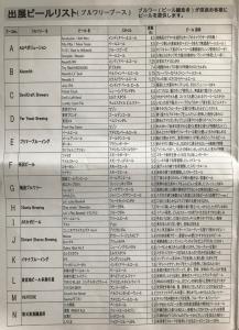 むさし府中ビール祭り2018(メニュー)その1