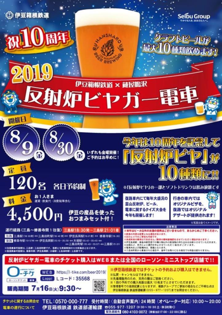 反射炉ビヤガー電車2019(フライヤー)