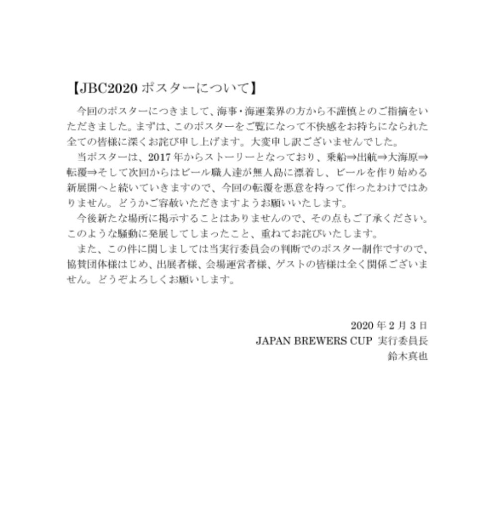 ジャパンブルワーズカップ2020_追記文