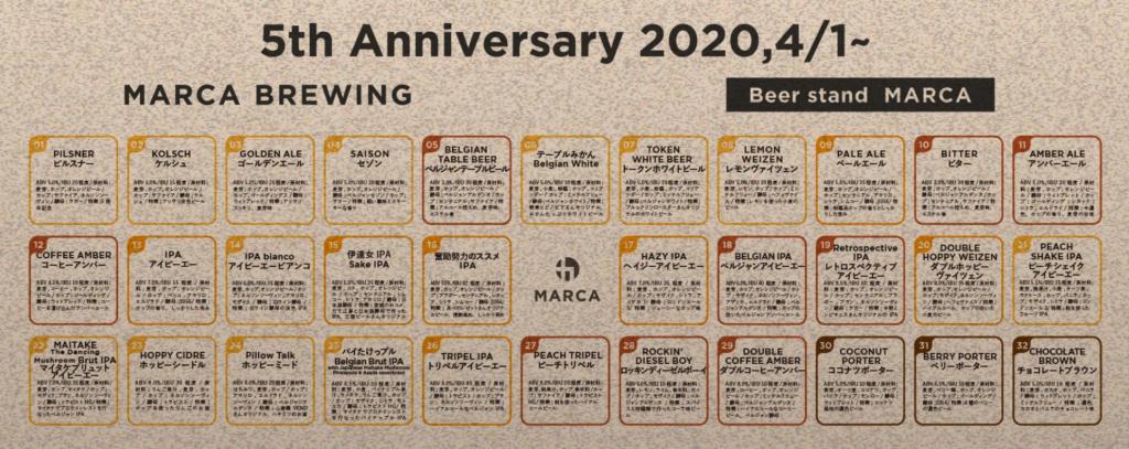 Marca Brewing(5周年ビールラインナップ)_イメージ01