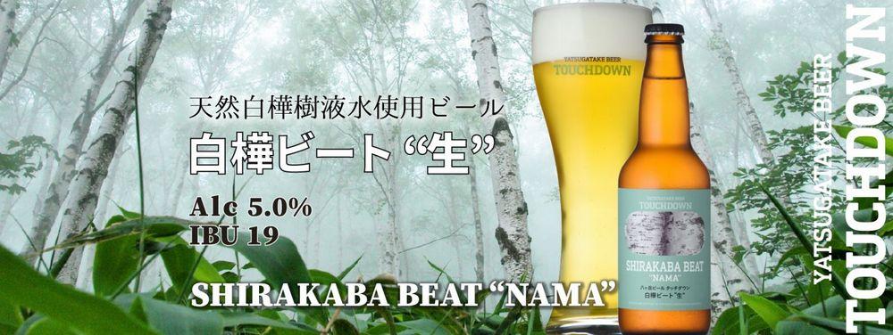 """タッチダウンビール(白樺ビート""""生"""")_イメージ01"""